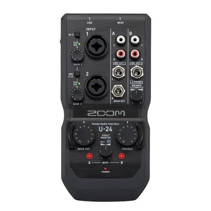 Zoom U-24 Handy Audio Interface - Front