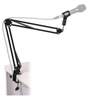 Platinum MPC1BK Microphone Arm Stand on Flexible Boom Scissor
