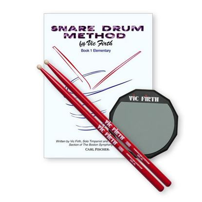 Vic Firth Launch Pad Kit (includes practice pad, SD1JR, method book)