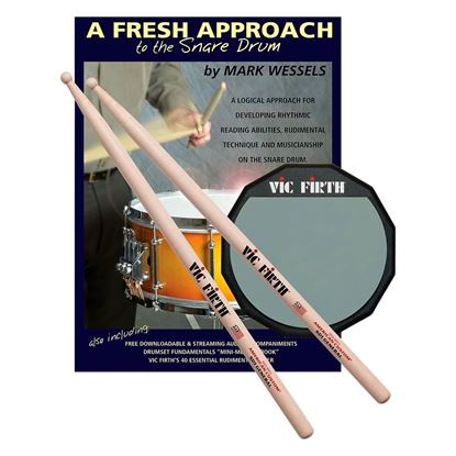 Vic Firth Fresh Approach Starter Pack (includes SD1, Practice Pad)