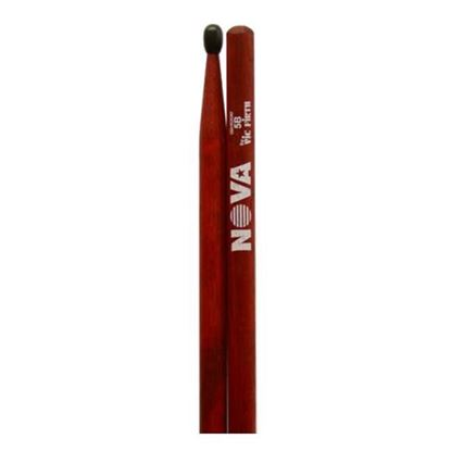 Vic Firth 5BN in Red with NOVA imprint - Nylon Tip Drumsticks