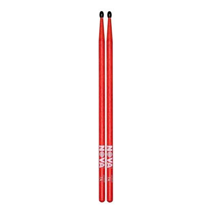 Vic Firth 7AN in Red with NOVA imprint - Nylon Tip Drumsticks