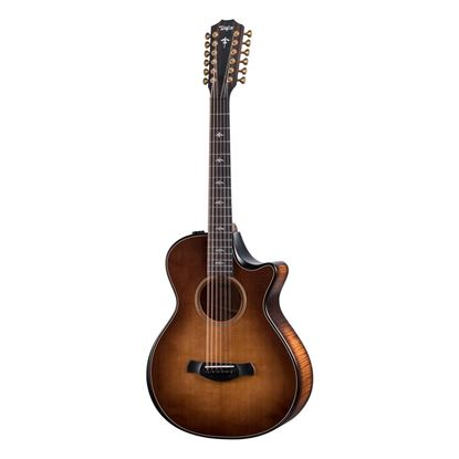 Taylor 652ce Builders Edition Acoustic Guitar - Wild Honey Burst - Front