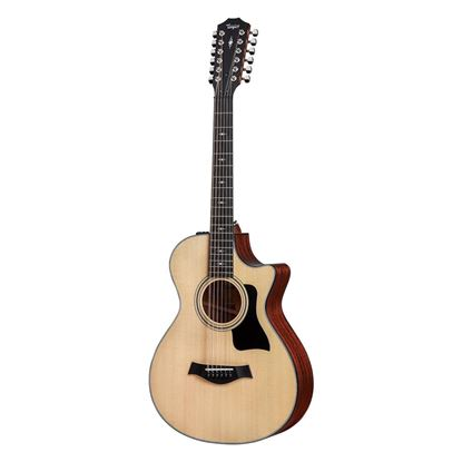 Taylor 352ce 12-String GC Spruce/Sapele Acoustic Guitar with Pickup and Cutaway - Front