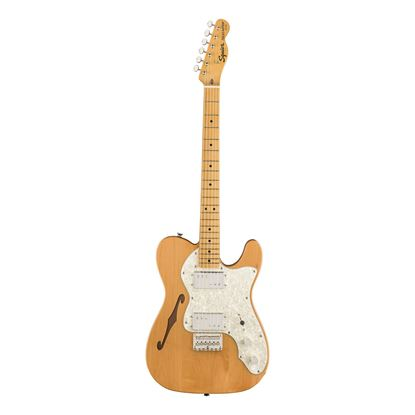 Squier Classic Vibe 70s Telecaster Thinline Electric Guitar - Maple Neck - Natural - Open