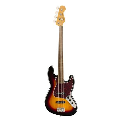 Squier Classic Vibe 60s Fretless Jazz Bass Guitar - Laurel Fretboard - 3-Colour Sunburst - Front