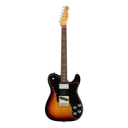 Fender American Original 70s Telecaster Custom Electric Guitar - Rosewood Fretboard - 3 Colour Sunburst - Front