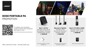 Bose Portable PA Promotion