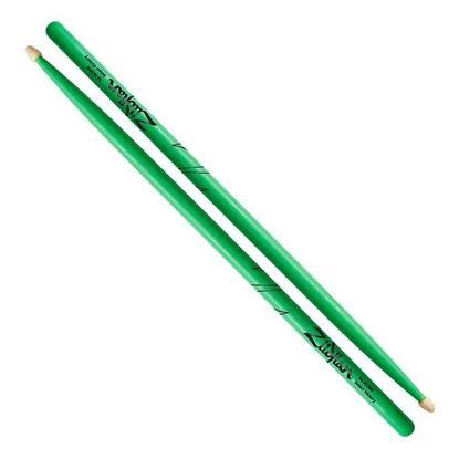 Zildjian 5A Acorn Neon Green Wood Tip Drumsticks