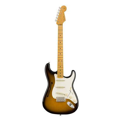 Fender Eric Johnson Thinline Stratocaster Electric Guitar - Maple Neck - 2-Tone Sunburst - Front