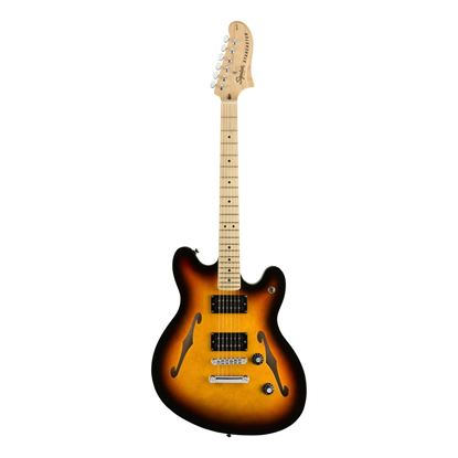 Squier Affinity Starcaster Electric Guitar - Maple Neck - 3 Colour Sunburst - Front