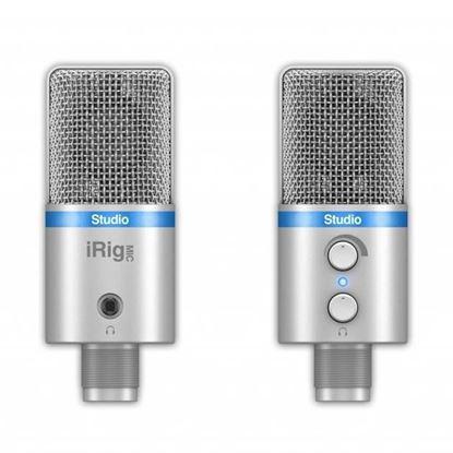 IK Multimedia iRig Mic Studio iOS/USB Condenser Mic - Silver - Front