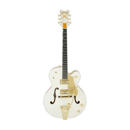 Gretsch G6136T-59 Vintage Select 59 Falcon Hollow Body Bigsby Electric Guitar Vintage White - Front