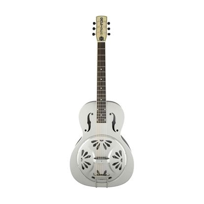 Gretsch G9221 Bobtail Round Neck Steel Body Resonator Guitar Weathered Pump House Roof - Front