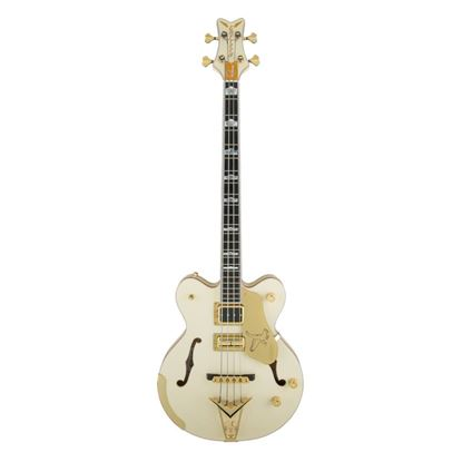 Gretsch G6136B-TP-AWT Tom Petersson Signature Bass Guitar Aged White Lacquer - Front