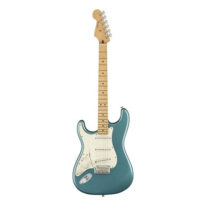Fender Player Stratocaster Electric Guitar Left Handed - Maple Neck - Tidepool - Front