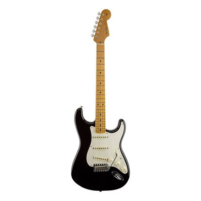 Fender Eric Johnson Signature Stratocaster Electric Guitar - Maple Neck - Black - Front
