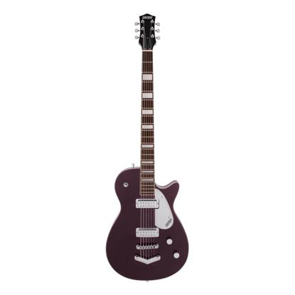 Gretsch G5260 Electromatic Jet Baritone V Stoptail Electric Guitar - Laurel Fretboard - Dark Cherry Metallic - Front
