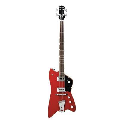 Gretsch G6138 Bo Diddley Signature Model Short Scale Bass Guitar Firebird Red - Front