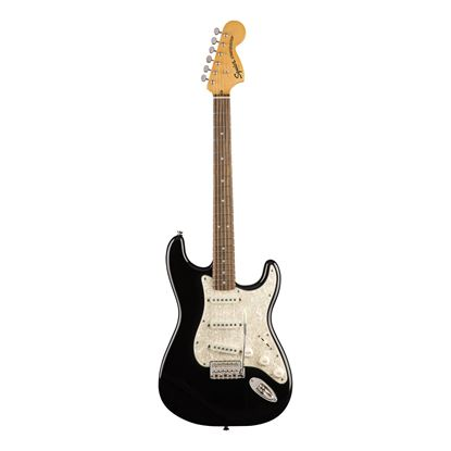 Squier Classic Vibe 70s Stratocaster Electric Guitar - Laurel Fretboard - Black - Front