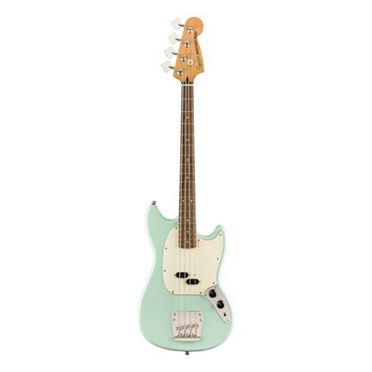 Squier Classic Vibe 60s Mustang Bass Guitar - Laurel Fretboard - Surf Green - Front