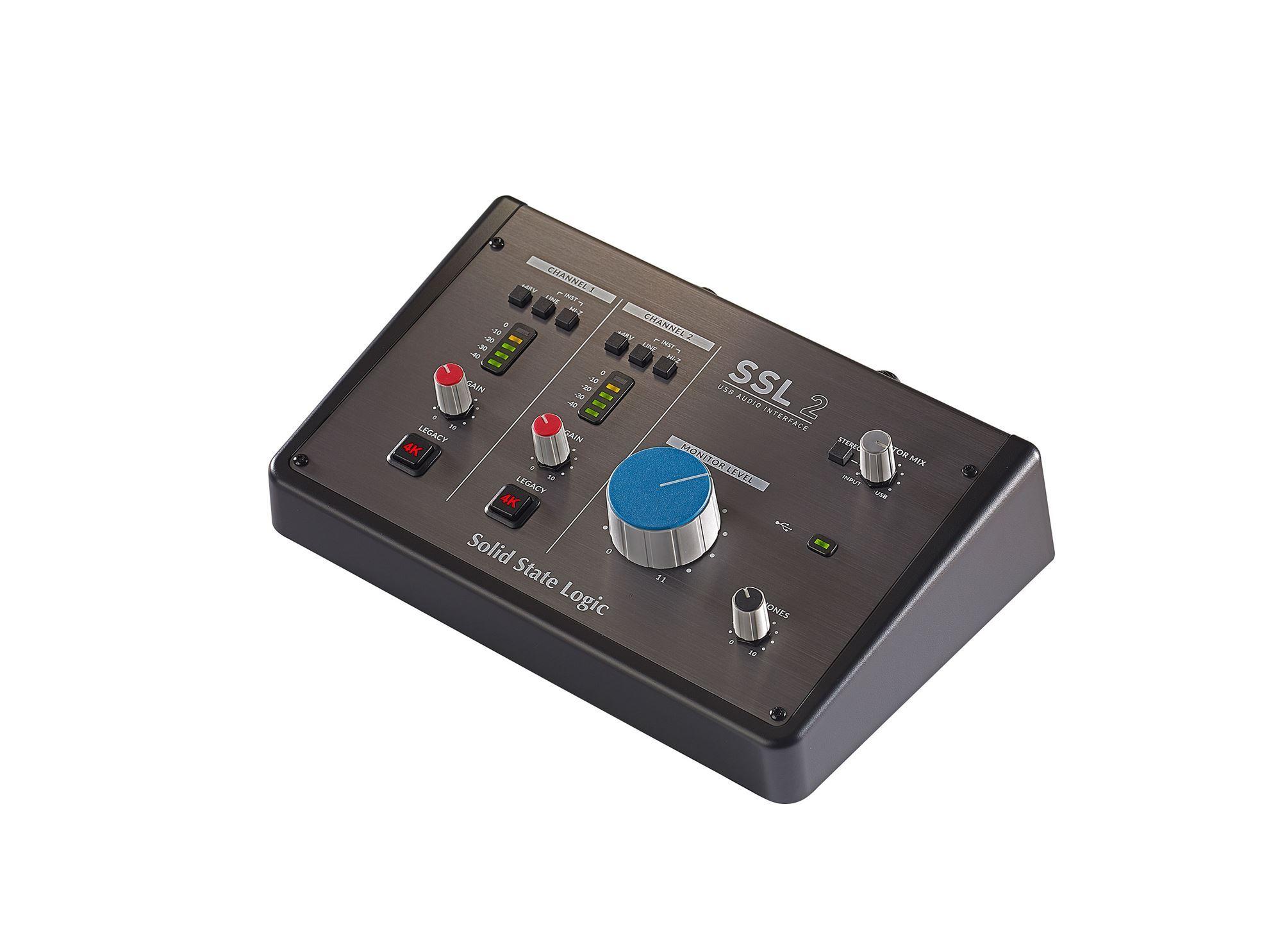 Solid State Logic SSL 2 Studio USB Audio Interface - Angle