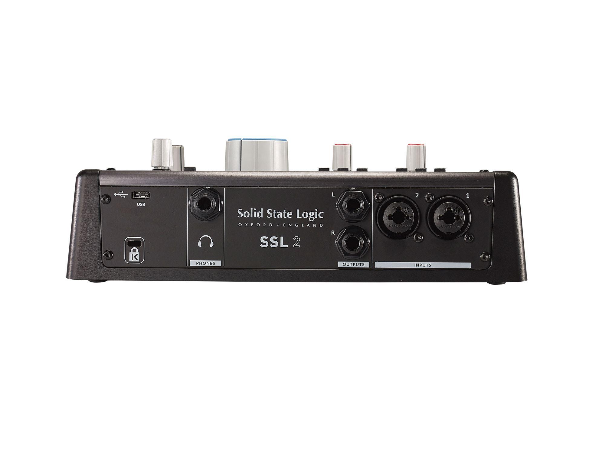 Solid State Logic SSL 2 Studio USB Audio Interface - Back
