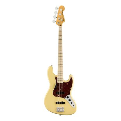 Fender American Original 70s Jazz Bass Guitar - Maple Neck - Vintage White - Front