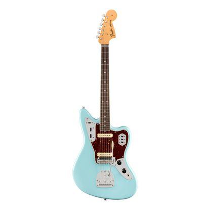 Fender American Original 60s Jaguar Electric Guitar - Rosewood Fretboard - Daphne Blue - Front