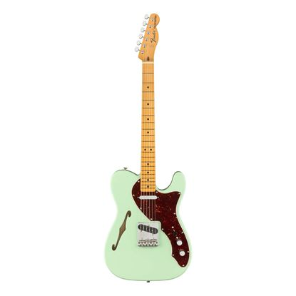 Fender American Original 60s Telecaster Thinline Electric Guitar - Maple Neck - Surf Green -Front