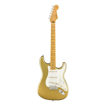 Fender Lincoln Brewster Signature Stratocaster Electric Guitar - Maple Neck - Aztec Gold - Front