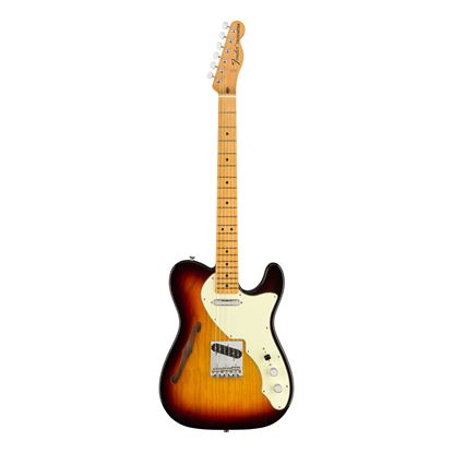 Fender American Original 60s Telecaster Thinline Electric Guitar - Maple Neck - 3 Colour Sunburst - Front