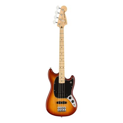 Fender Player Mustang PJ Bass Guitar - Maple Neck - Sienna Sunburst - Front