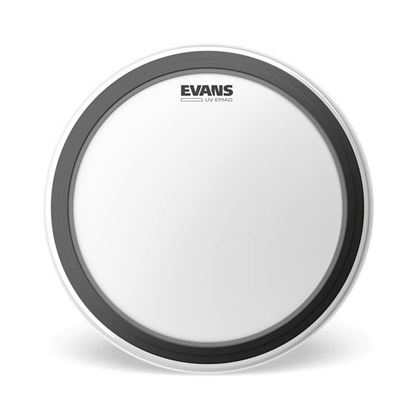 "Evans 16"" UV EMAD Bass Drum Head - Bass Hoop - Front"
