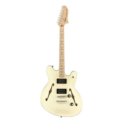 Squier Affinity Starcaster Electric Guitar - Maple Neck - Olympic White - Front