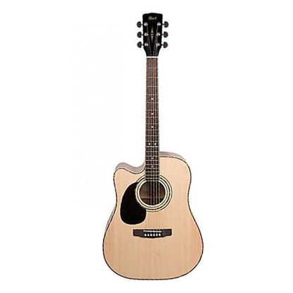 Cort AD880CEL Left Handed Dreadnought Cutaway Acoustic Electric Guitar in Gloss Natural