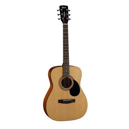 Cort AF510 Folk Acoustic Guitar in Open Pore Natural Finish - Front