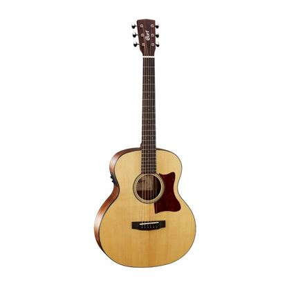 Cort Little CJ Walnut Jumbo Acoustic Guitar with Gig Bag - Front