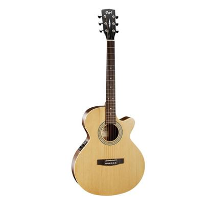 Cort SFX-ME Cutaway Acoustic Guitar in Natural - Front