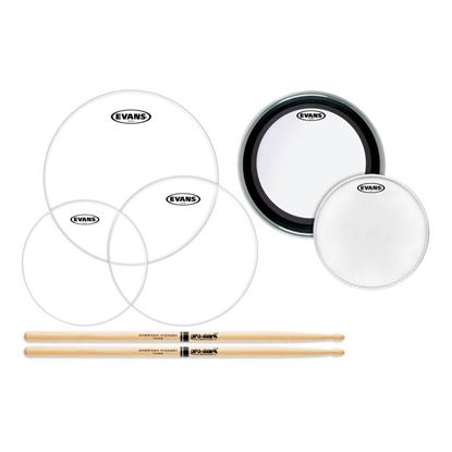 Evans American Upgrade 22in Drum Head Pack with Promark 5A