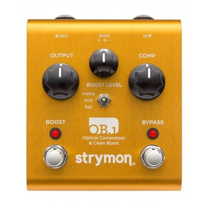 Strymon OB.1 Optical Compressor and Clean Boost Guitar Effects Pedal - Front