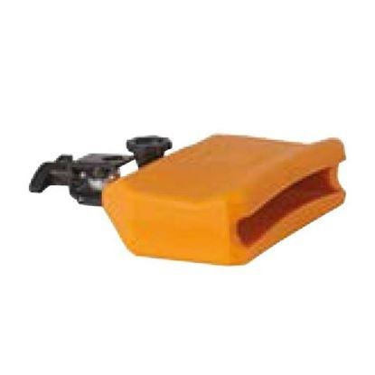 Manu Percussion DB283 Large Size, Low Pitch Gig Block - Orange