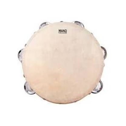 Mano Percussion ED623 8inch Tambourine with 12 pairs of Jingles on Double Row