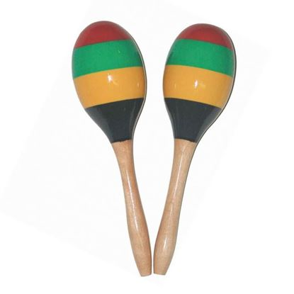 Mano Percussion 9inch Long Wooden Maracas
