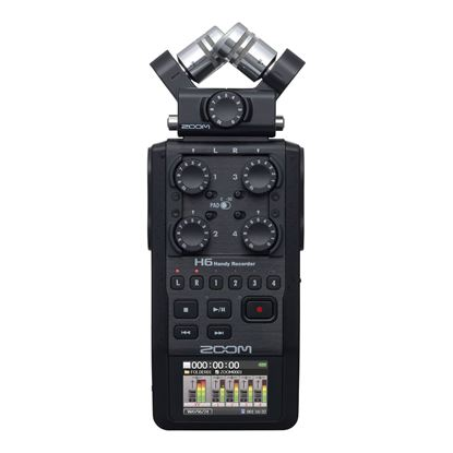 Zoom H6 Handy Recorder in Black - Front