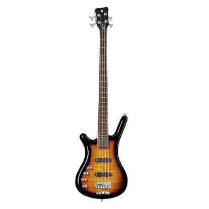 Warwick Rockbass Corvette Classic Left Handed 4 String Bass Guitar Almond Sunburst Trans High Polish