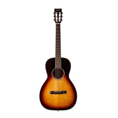 Tasman TA100P-E Parlour Acoustic Electric Guitar with Case - Front