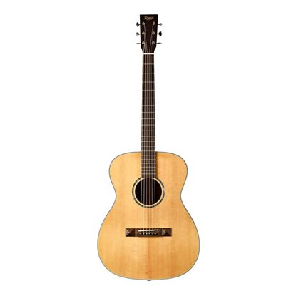 Tasman TA200O-E Om Acoustic Electric Guitar with Case - Front