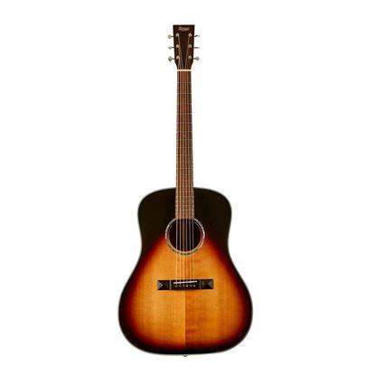 Tasman TA200D-E Drop Shoulder Acoustic Electric Guitar with Case - Front