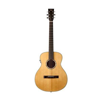 Tasman TA100M-E Mini Jumbo Guitar with Case - Front